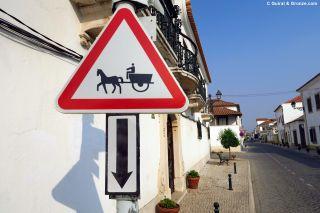 Curiosa señalización en las calles de Golegã