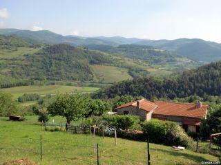 Paisaje saliendo de Bourg-Argental