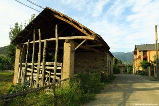Entrando a Toral de Merayo, primera localidad en el Camino de Invierno