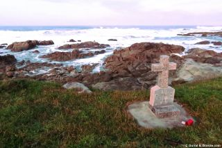Tumba de un náufrago a la salida de Porto Mougás