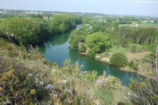 Vista de La Vidourle, entre Villetelle y Saturargues
