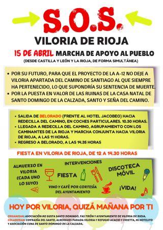 Cartel para la convocatoria de la marcha en apoyo de Viloria de Rioja