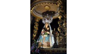 Imagen de la Virgen de A Franqueira (A Cañiza, Pontevedra)