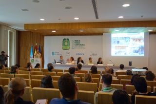 Sesión del Congreso Internacional de Rutas Culturales, celebrado en Santiago de Compostela
