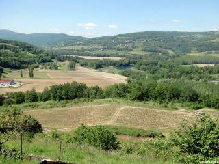Vista del valle del Rhône, de camino a Yenne